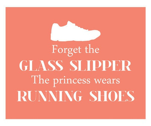 running, shoes, and princess image