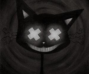 cat, dark, and horror image