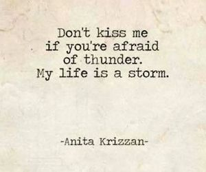 quote, kiss, and storm image