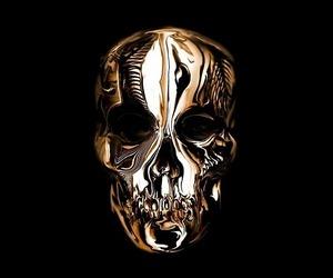 gold, black, and skull image