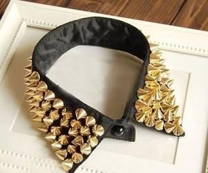 fashion, black, and collar image