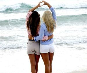 best friends, friends, and beach image