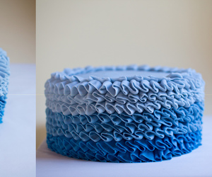 blue and cake image