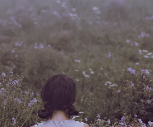 flower field, lovely photography, and girl image