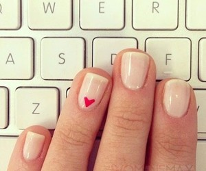 nails, heart, and manicure image
