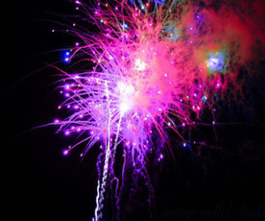 fireworks, pink, and light image
