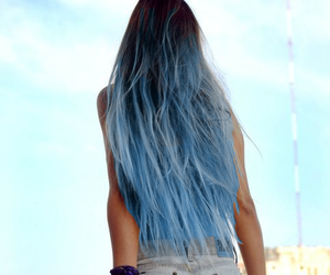 beautiful, blue, and ombre image