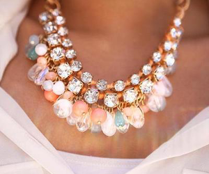 necklace, diamonds, and style image