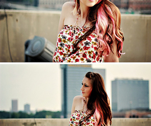 50mm, pink hair, and portrait image