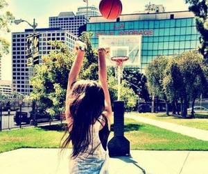 Basketball, girl, and sport image