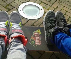 longboard, friends, and adidas image