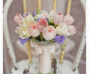 bride, flowers, and marriage image