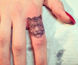 dedo, tiger, and tattoo image