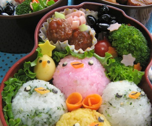 bento, cute, and chicks image