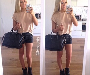bag, blonde hair, and boots image