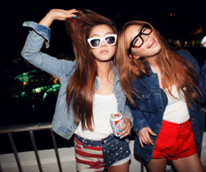 girl, friends, and party image