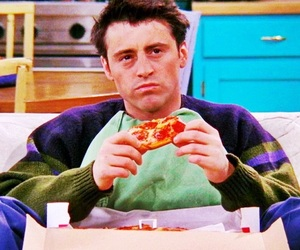 friends, pizza, and Joey image