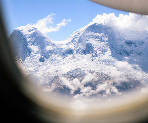 mountains, snow, and plane image