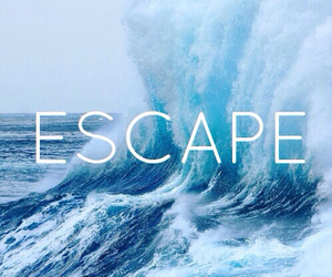escape, sea, and ocean image