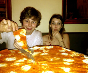 pizza, evan peters, and emma roberts image