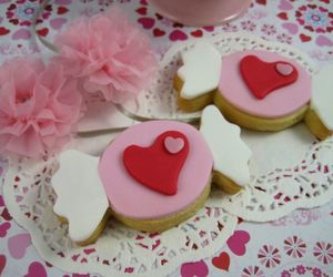 candy, Cookies, and heart image