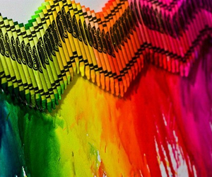crayon, rainbow, and art image