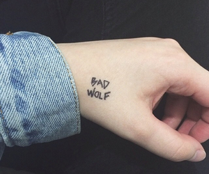 bad wolf, tattoo, and doctor who image