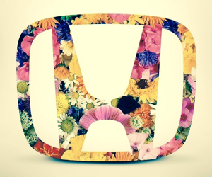 cars, floral, and Honda image