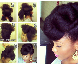 black, hair, and hairstyle image
