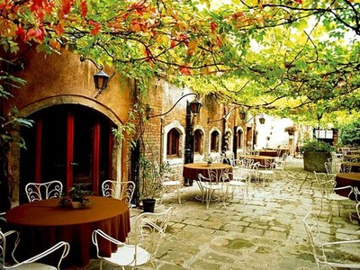 italy, cafe, and venice image