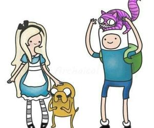 adventure time, alice, and finn image