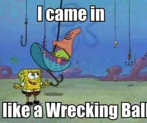 wrecking ball, funny, and lol image