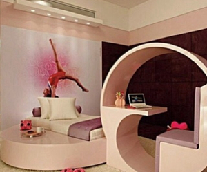 bedroom, girly, and interior image