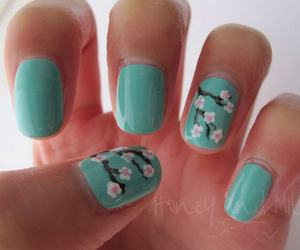nails, cute, and flowers image