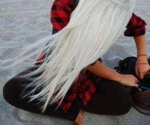 beach, white, and hair image