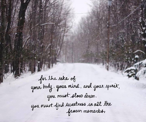 frozen, nature, and quote image