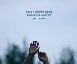 quote, chance, and promise image