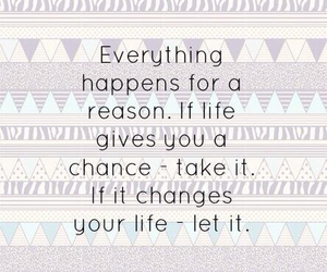 life, quote, and chance image
