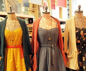 dress, fashion, and cardigan image