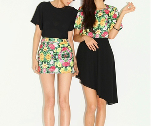 cute twins dress spring image