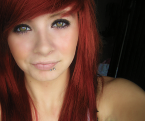 girl, Piercings, and red hair image
