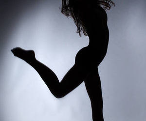 black&white, gymnastic, and photographie image