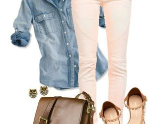 outfit, jeans, and sandals image
