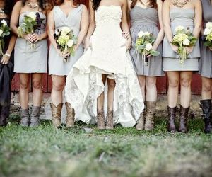 country, wedding, and bride image