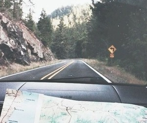 travel, map, and road image