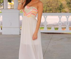 dress, girl, and long image