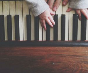 baby, baby love, and piano image
