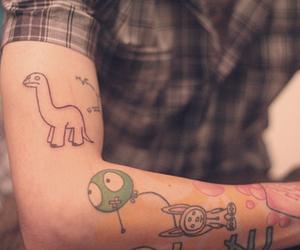 tattoo, pc siqueira, and dinosaur image
