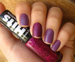glitter, nails, and esmaltes image