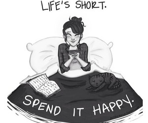 life, happy, and book image